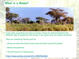 Introduction to Global Ecosystems - Bimoes - AQA GCSE - Living World