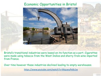 Economic Opportunites in Bristol AQA GCSE - The Urban World