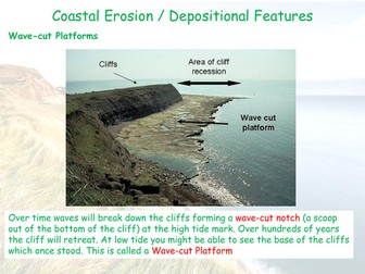 Coastal Erosion Landforms - AQA GCSE - Coastal Landscapes