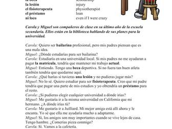 AP Spanish Reading University - Lectura - Condicional / Imperfect Subjunctive