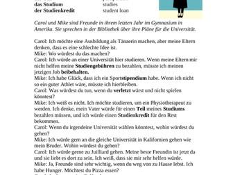 German Conditional Reading: Konjunktiv II - University / Universität