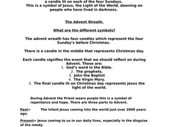 Advent worksheet