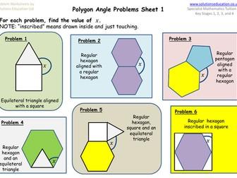 Regular Polygon Angles Problems