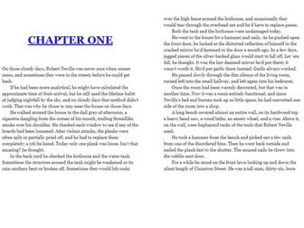 AQA Language Paper 1: I am Legend
