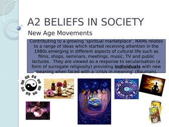AQA Sociology Beliefs New Age Movements