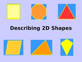 Describing 2D shapes