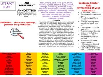 ART & DESIGN LITERACY MAT - Annotation