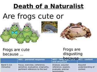 Death of a Naturalist for Eduqas 9-1 Introductory lesson and annotations