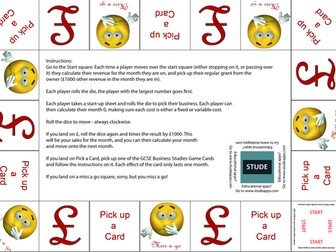 GCSE Business Enterprise and entrepreneurship revision Game for OCR GCSE (9-1) J204
