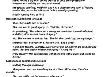 Inspector Goole - Character Profile