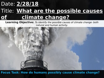 OCR A 9-1 GCSE Geography: What are the possible causes of climate change?