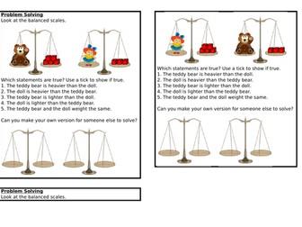 Comparing Mass, Spring Block 4, Year 1
