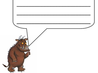 Gruffalo Caption Writing
