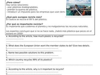 GCSE Revision: El medio ambiente