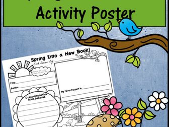 Book Review Poster - Spring Into a New Book!