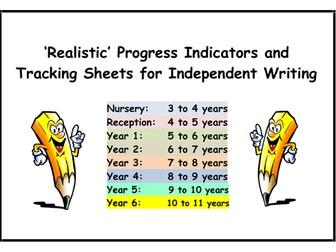 WRITING 'Progress Indicators' and 'Tracking Sheets' (Nursery to Year 2)