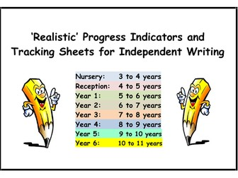 WRITING - Progress Indicators & Tracking Sheets