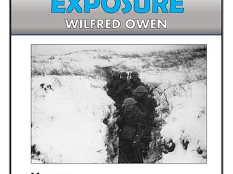 Exposure - Wilfred Owen - Comprehension Activities Booklet!
