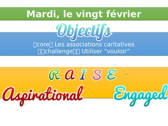 Charities/Les Associations Caritatives - GCSE AQA French