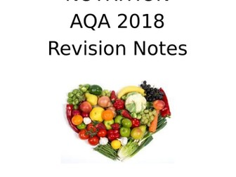 Revision Booklet for GCSE AQA Food Preparation and Nutrition