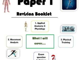 NEW AQA GCSE PE 9-1 - Paper 1 Revision Booklet