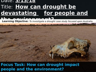 OCR A 9-1 GCSE Geography: The Big Dry Case Study