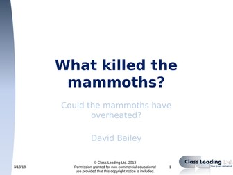 What killed the Mammoths (editable)