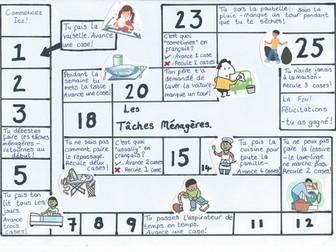 Household Tasks Board Game