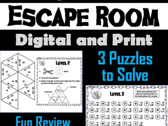 Double Digit Addition With and Without Regrouping: Math Escape Room