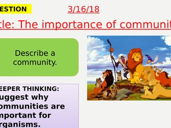 AQA new specification-The importance of communities-B15.1