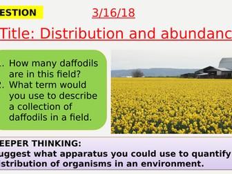 AQA new specification-Distribution and abundance-B15.3