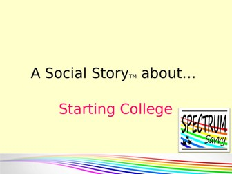Social Story: First day at College
