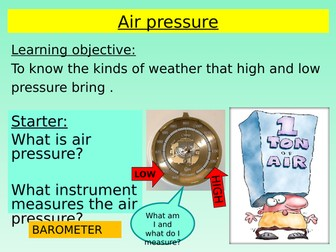 Weather Fronts (Air Pressure)