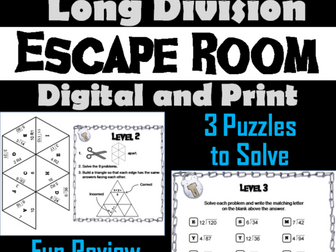 Third Grade Long Division with Remainders
