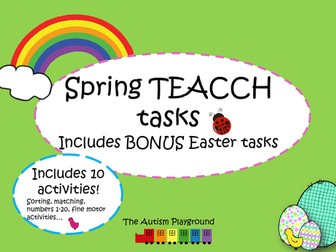 Spring and Easter TEACCH Tasks and activities - Independent Autism Activities