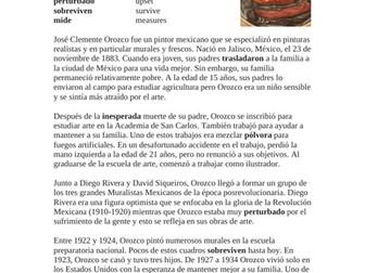 José Orozco Biografía - Biography of a Mexican Artist - Lectura