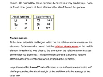 The History of the Periodic Table - Complete Lesson