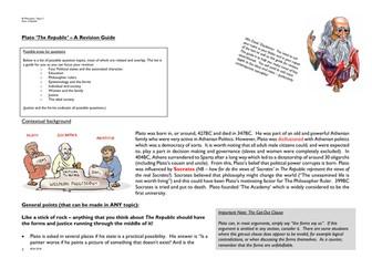 Revision Guide for PLATO REPUBLIC