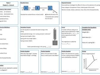 Forces A Revision Placemat