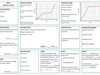 Forces B Revision Placemat