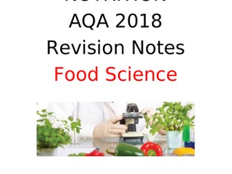 AQA GCSE Food Preparation and Nutrition Revision Booklet FOOD SCIENCE