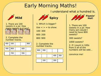 White Rose year 3 Early Morning Maths Revision