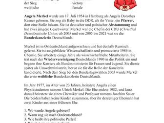 Angela Merkel Biografie - Biography