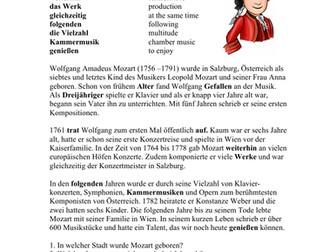 Wolfgang Amadeus Mozart Biografie - Biography