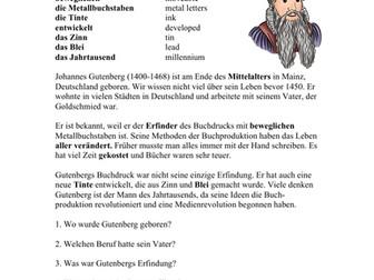 Johannes Gutenberg Biografie - Biography