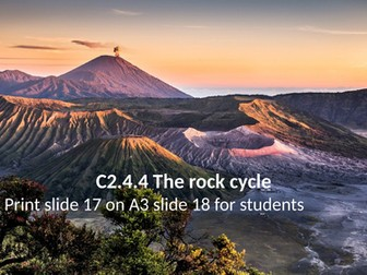 Activate 2 C2.4.4 The rock cycle