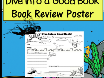 Book Review Poster - Dive Into a Good Book! *Print and Go!*
