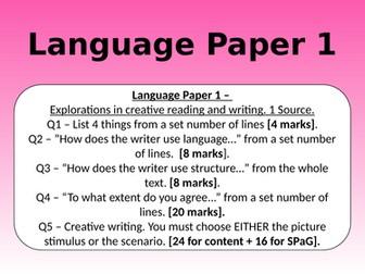 LANGUAGE PAPER 1 FULL REVISION