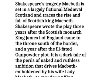 GCSE 9-1 Three Grade 9 Macbeth paragraphs that could be used in any essay