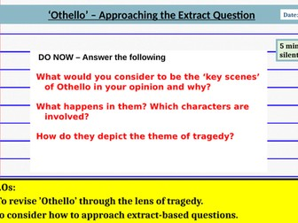 Othello - Essay Writing Skills